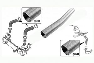 Air hose, fan to heat exchanger Volkswagen Golf I Jetta I Garbus MK1